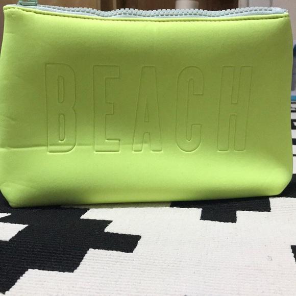 Victoria's Secret Handbags - Victoria's Secret Neon Green Neoprene zip bag